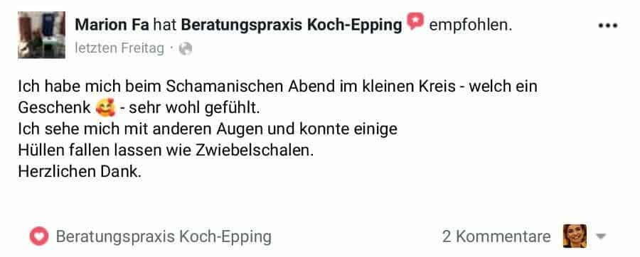 Kunden Bewertung Koch-Epping Schamanisch